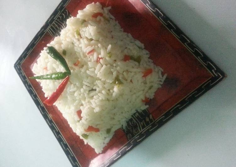 Vegetabled rice# new author contest#