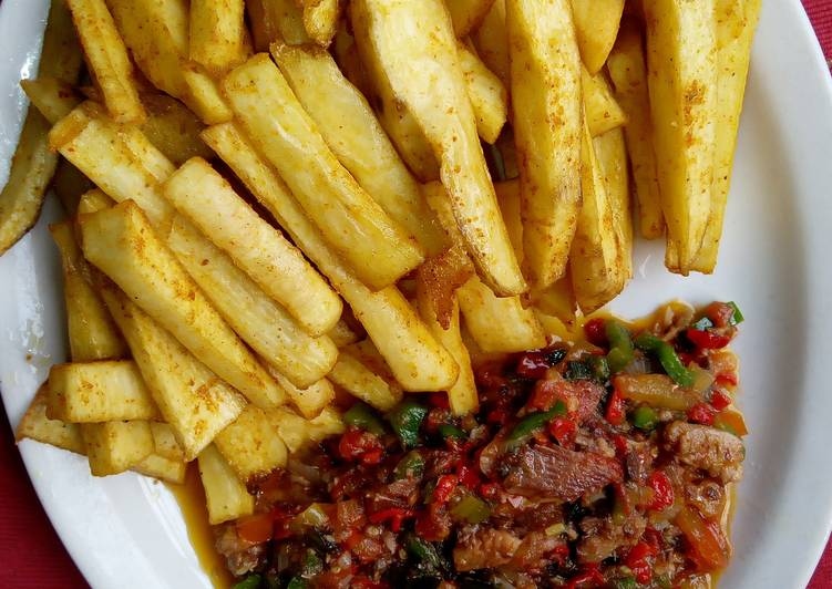 fried yam - foods to try in Nigeria
