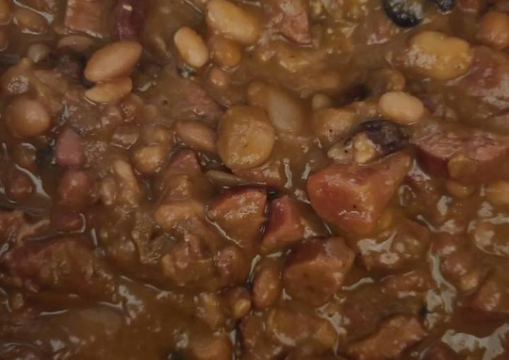 15 bean Cajun soup mix with smoked sausage & rice