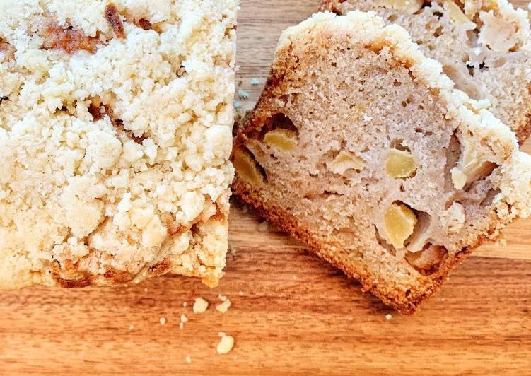 Crumble cake poire -pomme / amaretto de Yotam Ottolenghi  @4PassionFood