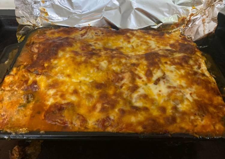 Spinach and mushroom lasagna