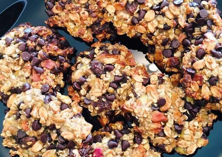 Cookies Muesli aux Bananes et Pépites de Chocolat Noir