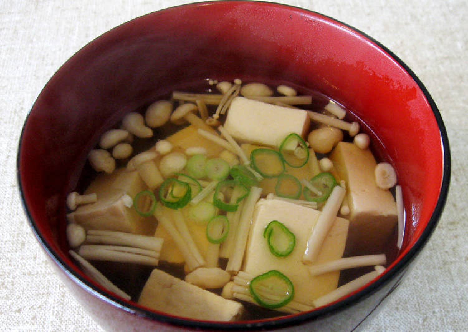 Tofu & Enoki Clear Soup