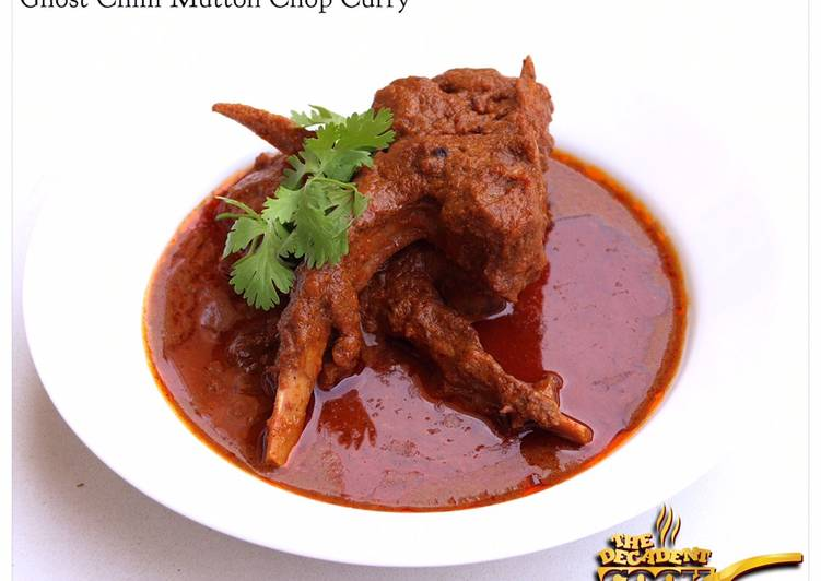 Ghost chilli mutton chop curry