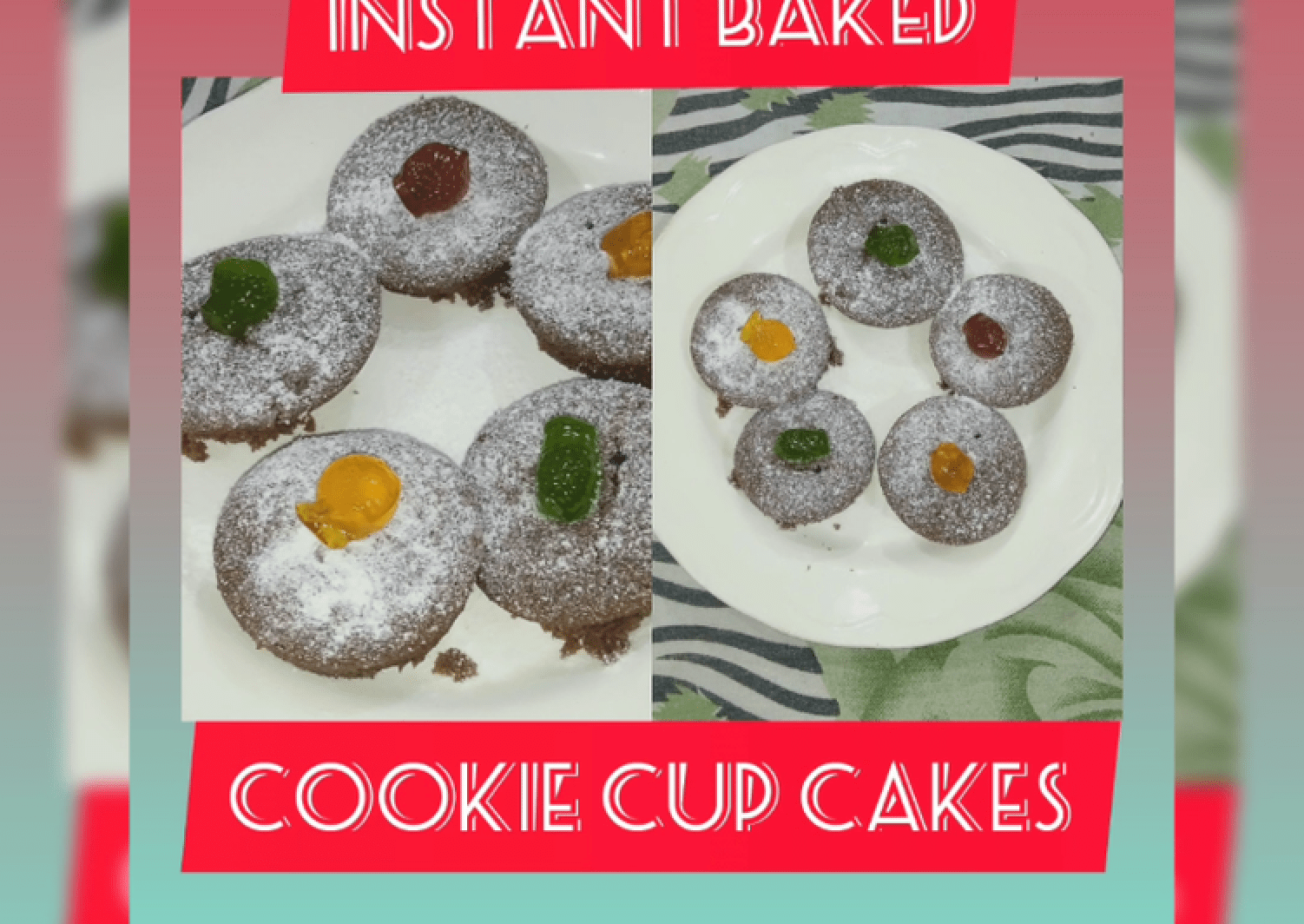 Instant Baked Cookie Cupcakes