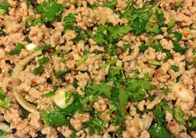 Larb with Sticky Rice