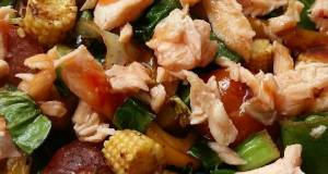 Vickys Quick Salmon Rainbow Stir-fry GF DF EF SF NF