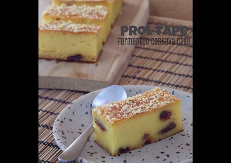 Prol Tape (Fermented Cassava Cake)