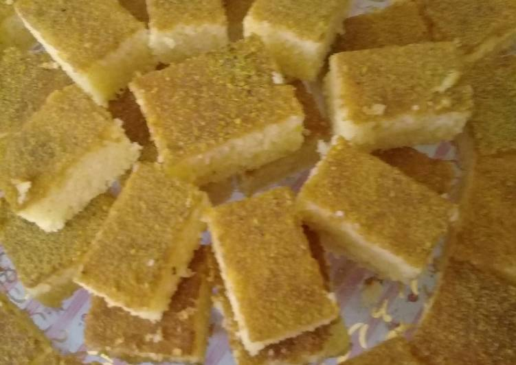 How to Prepare Quick Basbusa Cake (oman)
