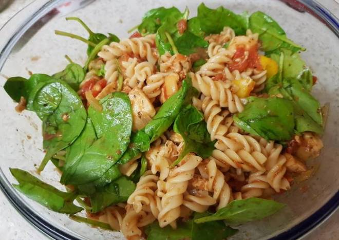 My Italian blend Chicken Pesto Pasta 😘