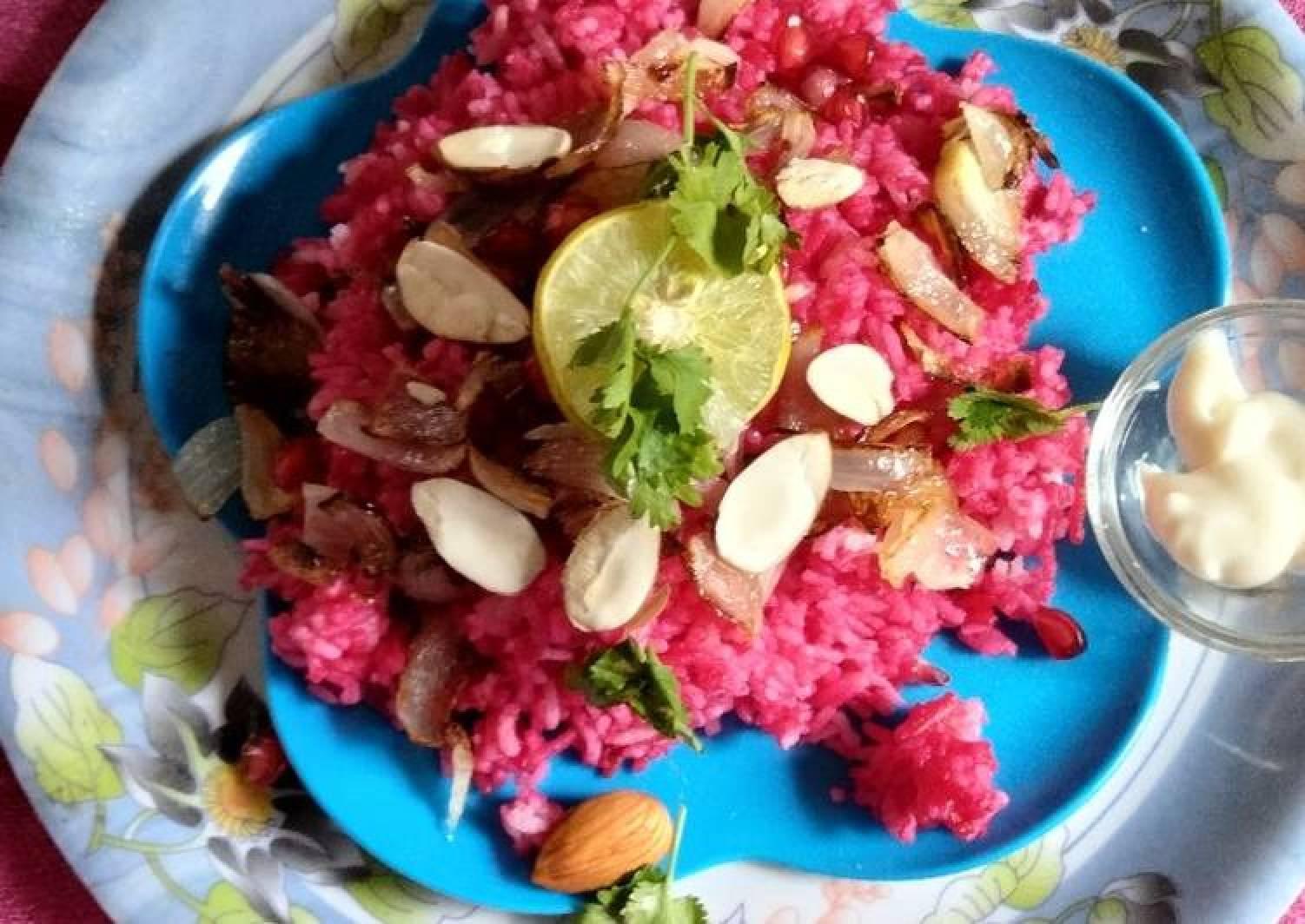 Beet root pullao/rice