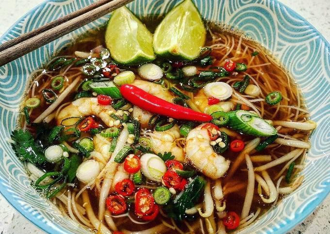 Steps to Prepare Tasteful Vietnamese Prawn Pho
