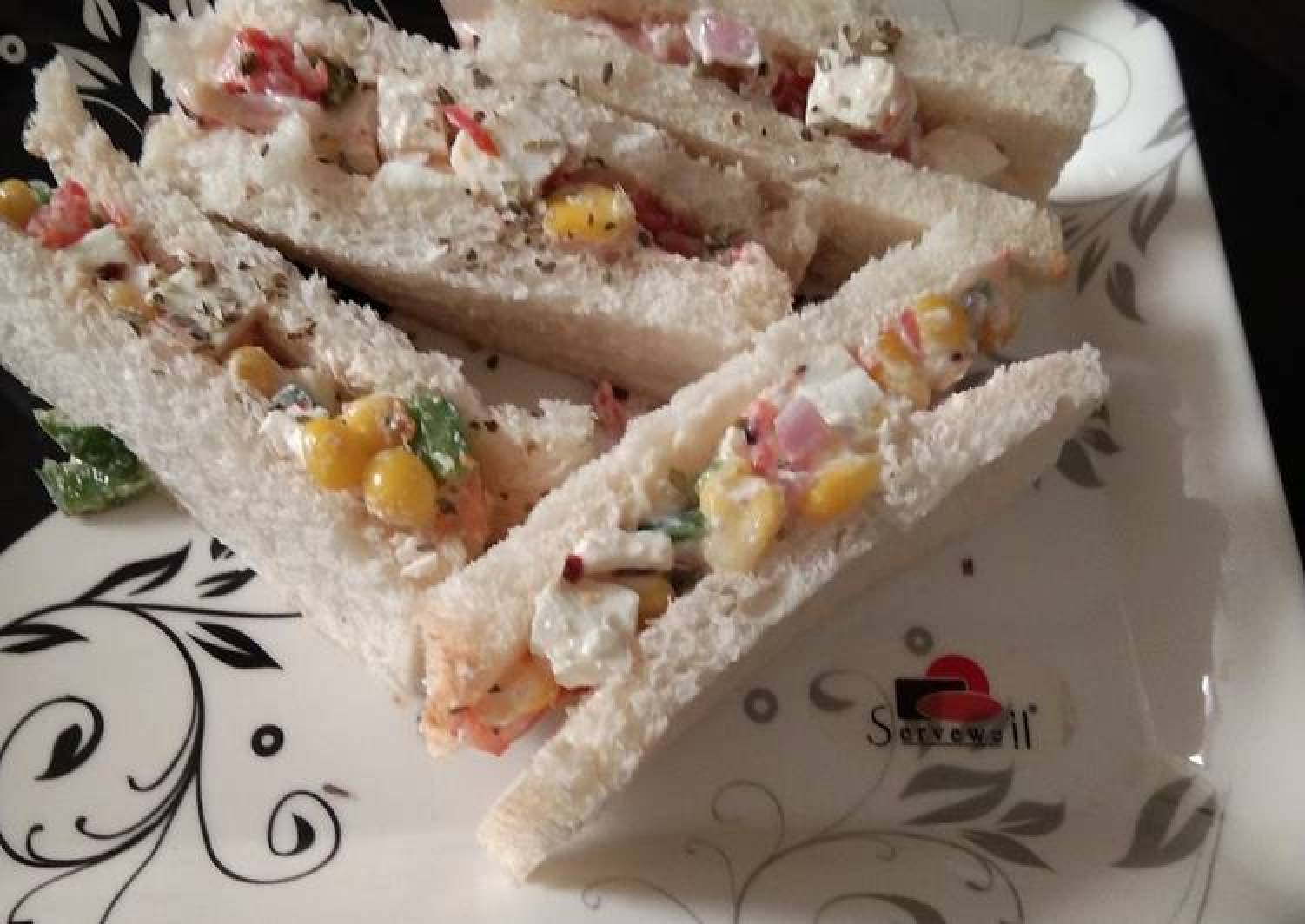 Curd sandwich creamy and yummy