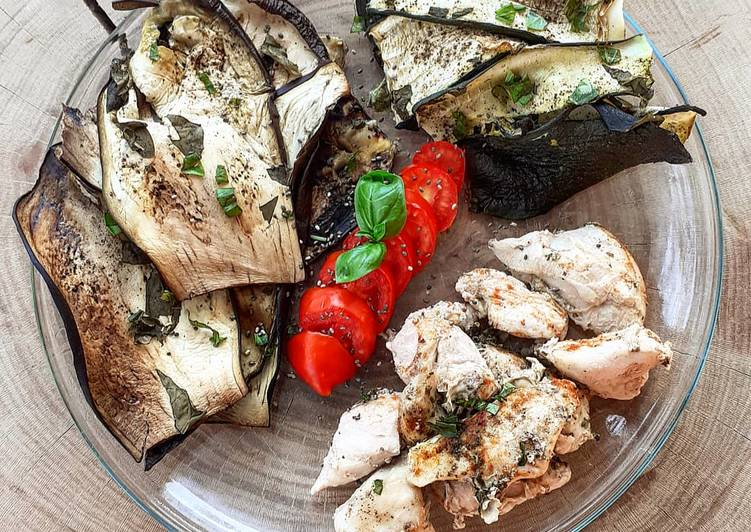 Légumes grillés et poulet