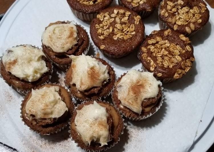 Spice Cupcakes wt Zucchini, Raisins, & Butterscotch Filling