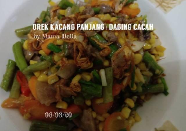 OREK KACANG PANJANG+DAGING CACAH