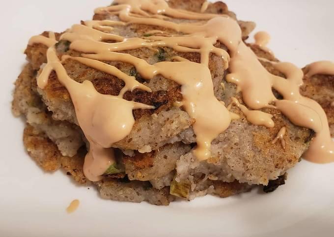 Vegan potatoes green onion pancakes