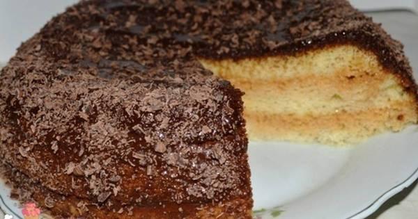 Вкусный бисквитный торт со сгущенкой - пошаговый рецепт с ...