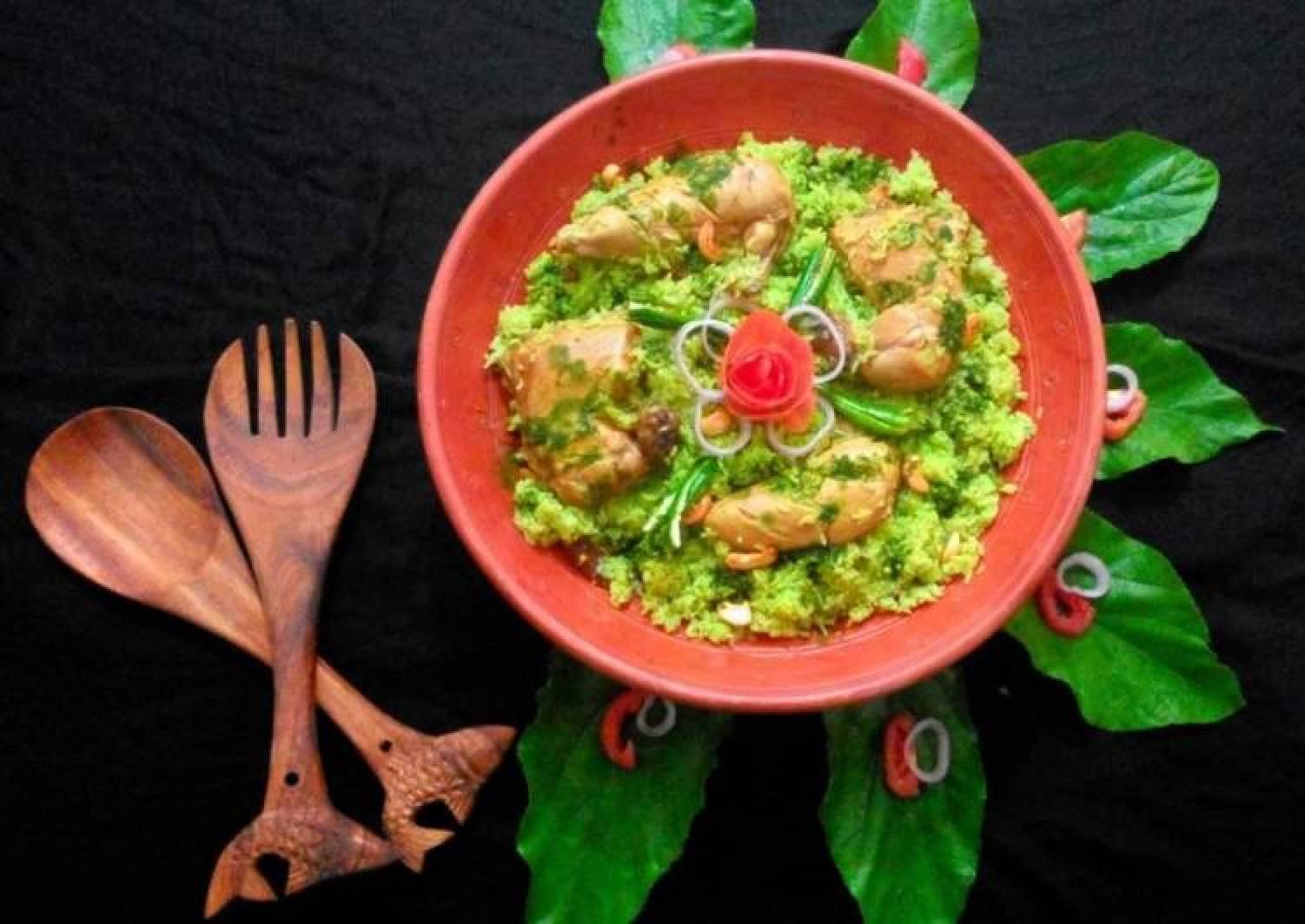 Spinach-Chicken Rice