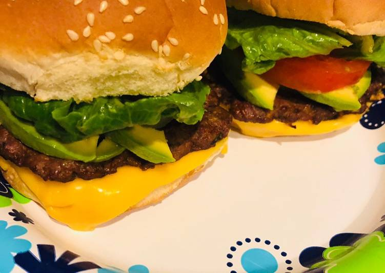 Homemade cheeseburgers with a Latin twist