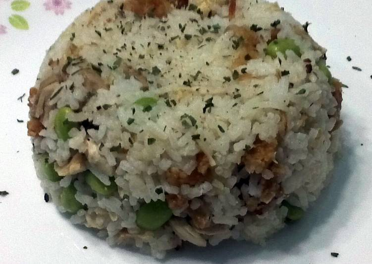 Roasted Chicken And Edamame Bean Baked Rice
