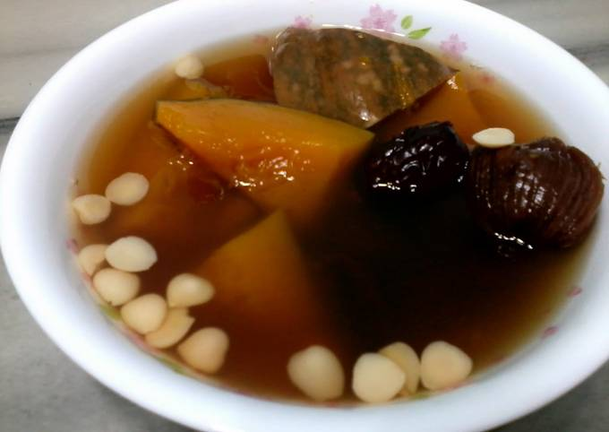 Pumpkin with Almond and Date Soup