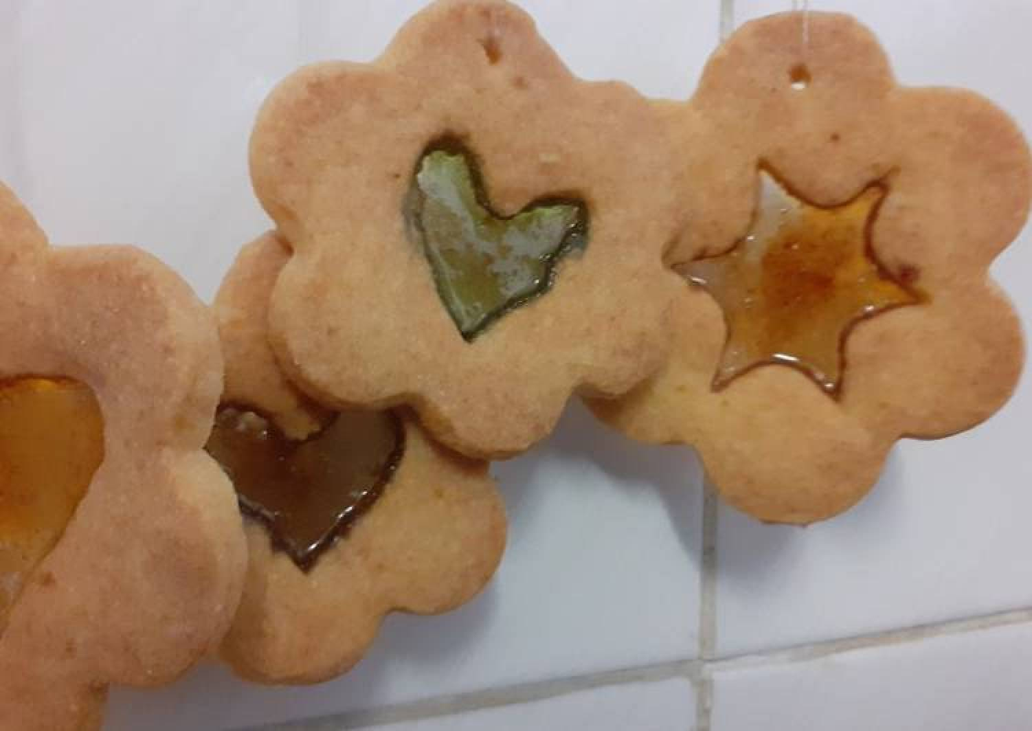 Edible Christmas tree décor; stained glass windows biscuits