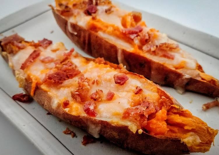 Cheesy Bacon Sweet Potato