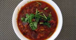 LG SPICY AUBERGINE STEW WITH CORIANDER AND MINT