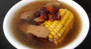 Kidney Bean And Sweetcorn In Chicken Soup