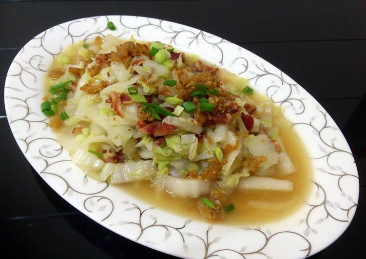 Napa Cabbage With Bacon And Dried Shrimp