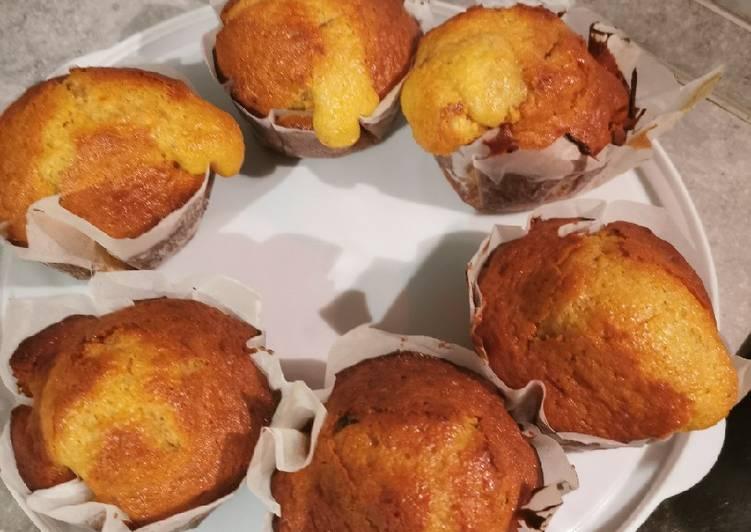 Muffins au pépite de chocolat caramel beurre salé