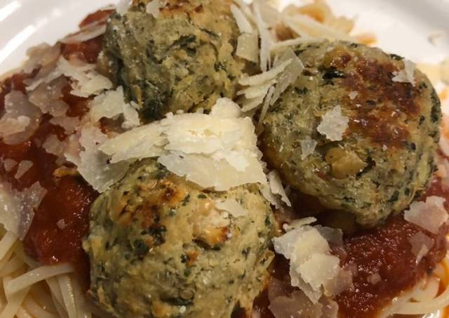 Eggplant meatballs with marinara
