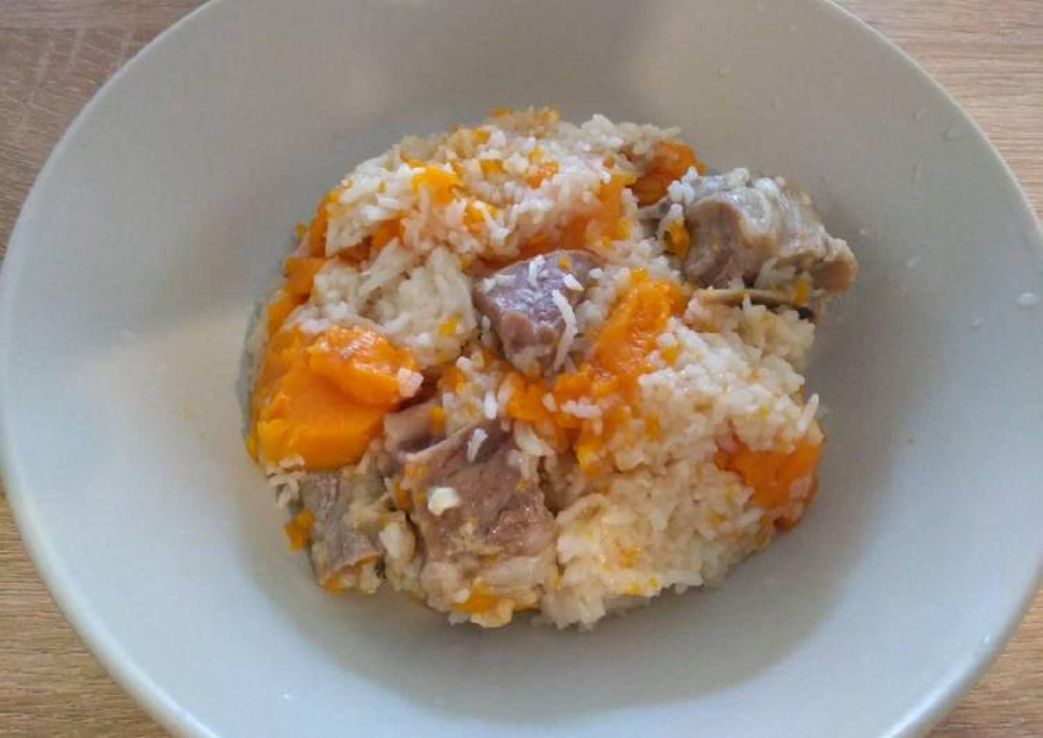 一锅煮金瓜排骨饭 One-Pot Pork Ribs Pumpkin Rice