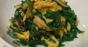 A Pick Me Up for Summer Fatigue Fortifying Garlic Chives and Eggs