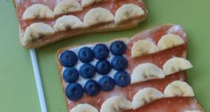 Vickys Star-Spangled Banner Toast 4th of July Kids Breakfast