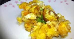 Baked Salmon Scramble Eggs
