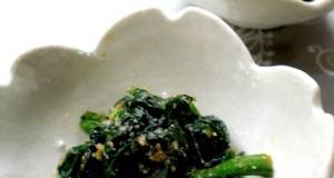 Super Easy Frozen Spinach with Sesame Seeds