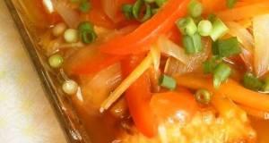 Non-Fried Marinated Nanban - Raw Salmon and Sweet Onions Using Shio-Koji