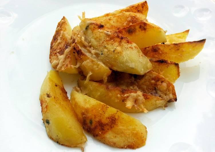 Baked Cheesy Spicy Potato