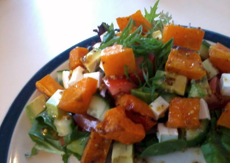 Roast Pumpkin and Pinenut salad