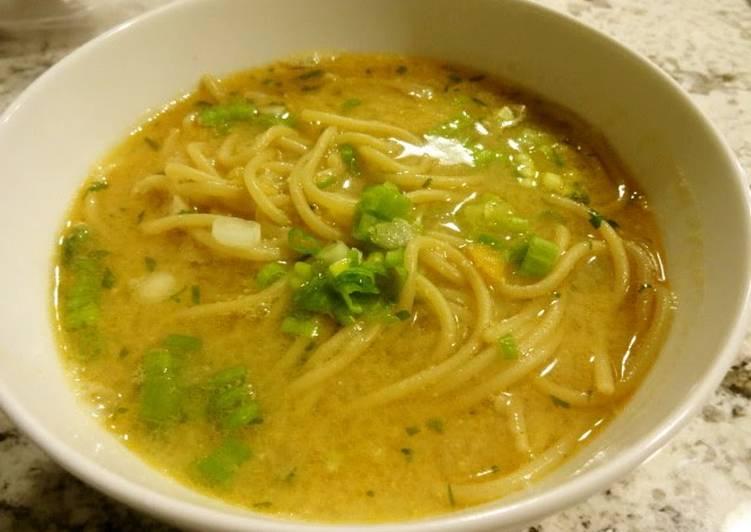 Recipe of Perfect Miso Ramen Soup
