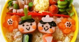 Girls Festival Character Bento Decorative Hina Doll