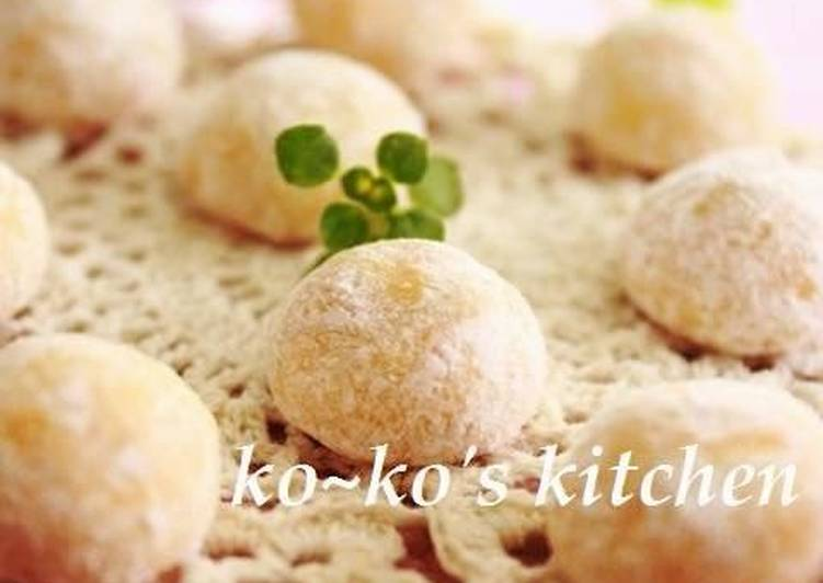 Step-by-Step Guide to Prepare Super Quick Homemade Snowball Cookies with Aromatic Yuzu Citrus