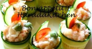 Minute Recipe - Crab Salad Wrapped in Cucumber