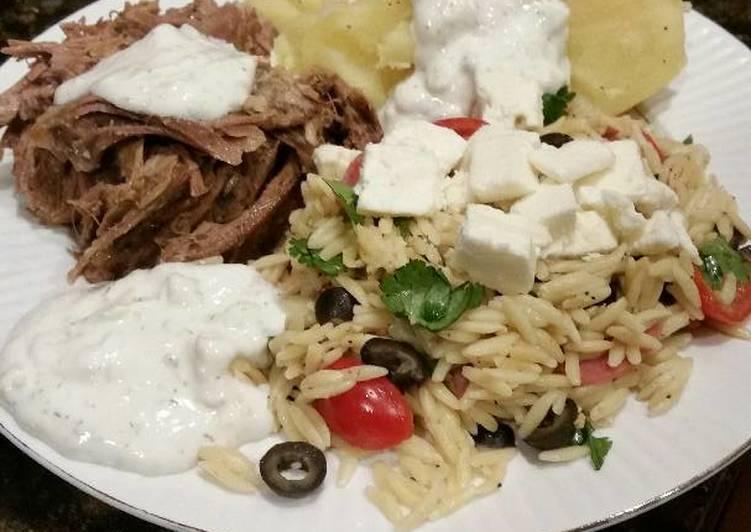 Brad's Greek lamb dinner