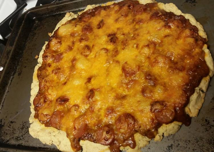 Chili Cheese Dog Pizza Gluten-free