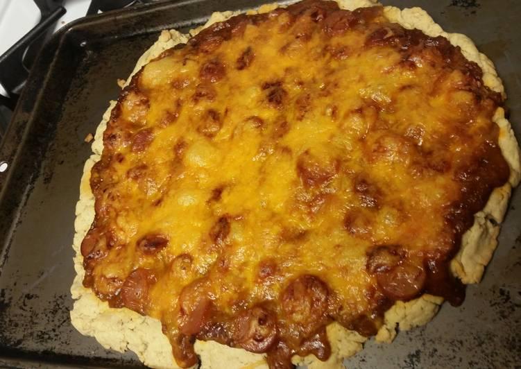 Chili Cheese Dog Pizza (Gluten-free)