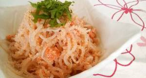 Low-Cal Drinking Appetizer Mentaiko and Shirataki Noodles
