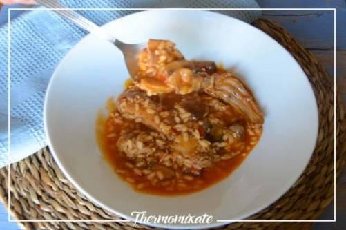 Receta de arroz con conejo y setas